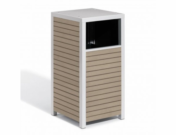 Oxford Garden Travira Trash or Recycling Receptacle - Additional Summer Sale Pricing