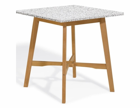 "Oxford Garden Wexford 42"" Shorea Bar Table - Granite Lite-Core - Reduced Closeout Pricing"