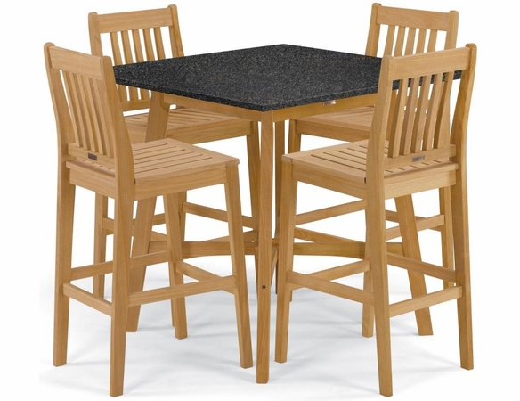 """Oxford Garden Wexford 5-Piece Lite-Core Dining Set with 42"""" Bar Table"""