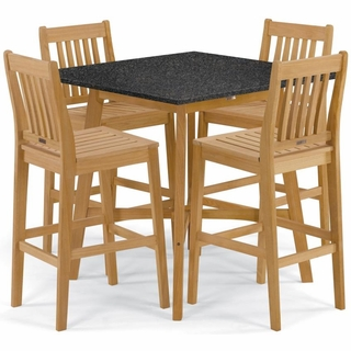Oxford Garden Wexford 5 Piece Lite Core Dining Set With 42
