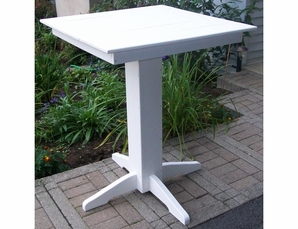 """Polyresin 33"""" Square Bar Table"""