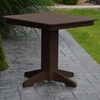 "Polyresin 33"" Square Dining Table"