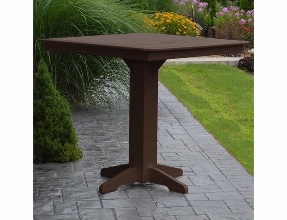 """Polyresin 44"""" Square Bar Table"""