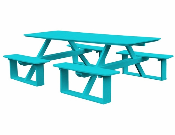 Polyresin 8 Foot Walk-in Picnic Table