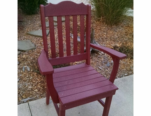 Polyresin Royal Dining Chair w/ Arms
