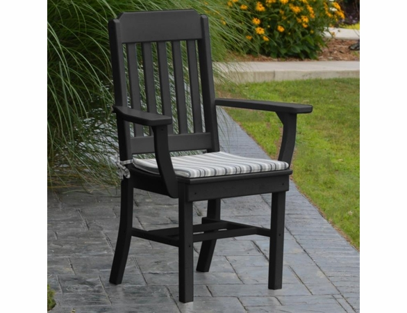 Polyresin Traditional Dining Chair w/ Arms