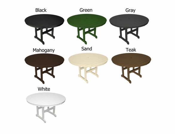 """POLYWOOD® 48"""" Round Dining Table"""
