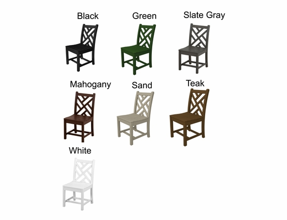 "POLYWOOD® Chippendale 35"" Dining Side Chair"