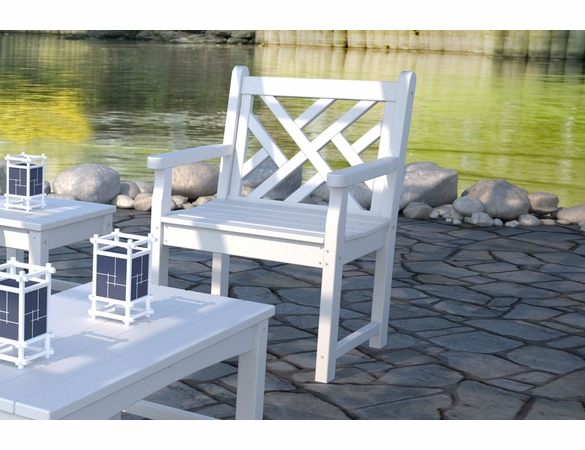 """POLYWOOD® Chippendale Garden 35"""" Arm Chair"""