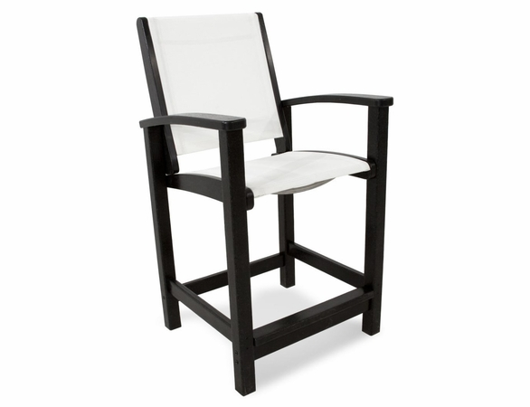 "POLYWOOD® Coastal 43"" Counter Chair"