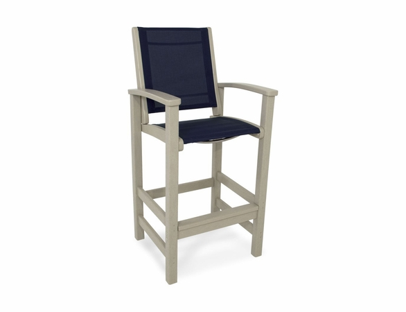 "POLYWOOD® Coastal 49"" Bar Chair"