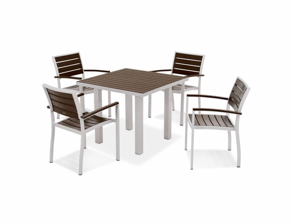 POLYWOOD&reg; EURO 5 Seat Dining Set<br><br>Temporarily Out of Stock<br>Call for Information
