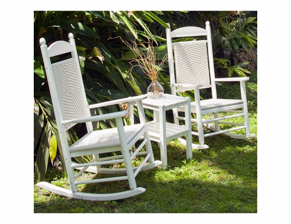POLYWOOD® Jefferson Woven Rocking Chair 3 Piece Set