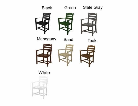 POLYWOOD® La Casa Cafe Dining Arm Chair