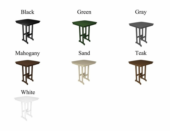 """POLYWOOD&reg; Nautical 37"""" Square Bar Table<br><br>Temporarily Out of Stock"""