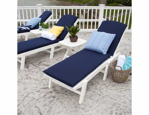 POLYWOOD&reg; Nautical Wheeled Chaise - Stackable<br><br>Temporarily Out of Stock
