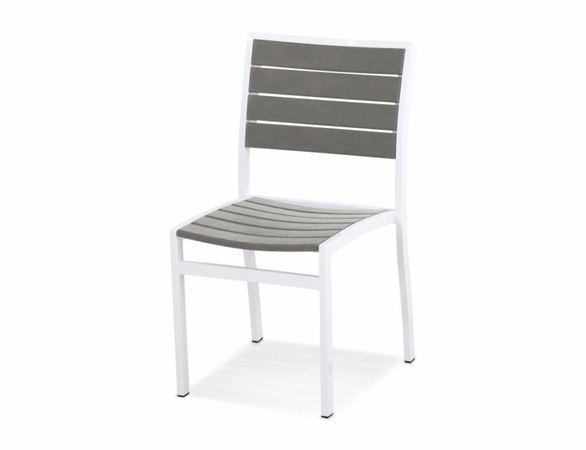 POLYWOOD&reg; Poly/Aluminum Euro Side Chair (2)<br><br>Temporarily Out of Stock<br>Call for Information