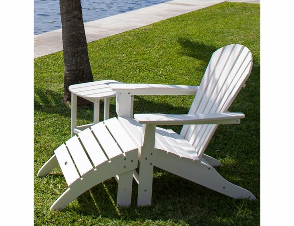 POLYWOOD® South Beach Adirondack 3-Piece, 1 Seat Set  -  Temporarily Out of Stock