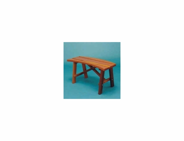 Red Cedar 3' Curved Backless Bench - Pair