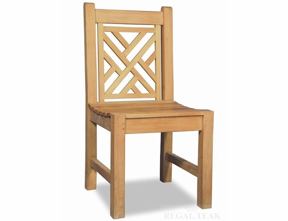 Regal Teak Chippendale Dining Side Chair