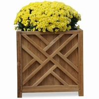 Regal Teak Chippendale Planter - Unavailable until Sept