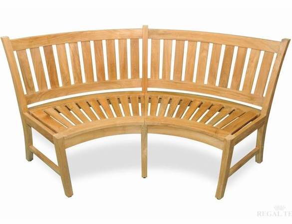 Regal Teak Estate Curved Teak Bench
