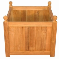 Regal Teak Mission Planter - Unavailable until Sept