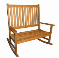 Regal Teak Rocking Bench - Unavailable until Sept