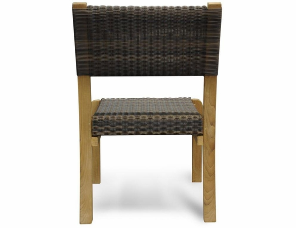 Regal Teak Wicker Stacking Dining Side Chair - Set/4