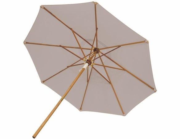 Royal Teak 10' Deluxe Market Umbrella - Navy & Off White Options - Estimated Availability to ship in July