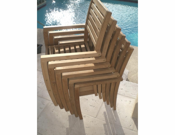 Royal Teak Avant Teak Stacking Chair - Estimated Availability to Ship in July