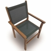 Royal Teak Captiva Sling Stacking Chair - Available to Ship Beg - Mid of Apr