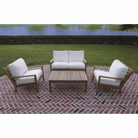 Royal Teak Coastal 4 Piece Deep Seating Group - Estimated Availability to Ship in Sept