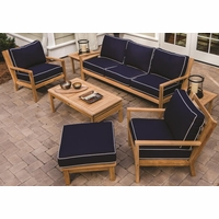 Royal Teak Coastal 7 Piece Deep Seating Group - Estimated Availability to Ship in July