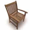 Royal Teak Compass Arm Chair - Estimated Availability to Ship End of Oct