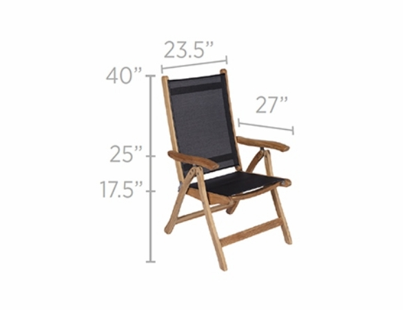 Royal Teak Florida Chair - Estimated Availability to Ship in July