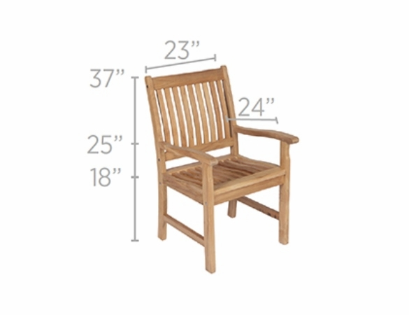 """Royal Teak Gala 64"""" - 80"""" - 96"""" Double Leaf Expansion Table Set with 6 Compass Chairs - Estimated Availability to Ship in Oct"""
