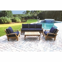 Royal Teak Miami 4 Piece Deep Seating Group - Estimated Availability to Ship in July