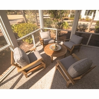 Royal Teak Miami 5 Piece Deep Seating Group - Estimated Availability to Ship in Aug
