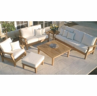 Royal Teak Miami 6 Piece Deep Seating Group - Estimated Availability to Ship in July