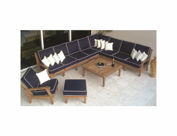 Royal Teak Miami Corner Sectional Set - Estimated Availability to Ship in July