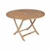 "Royal Teak Sailor 30"" or 47"" Round Semi-Folding Teak Tables - Estimated Available to Ship in July"