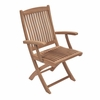 Royal Teak Sailor Folding Armchair - Estimated Availability to Ship in July
