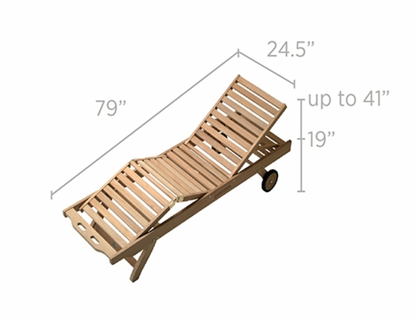 Teak Sun Bed Lounge Chair – OutdoorFurniturePlus.com