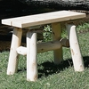 Rustic White Cedar Log 23 In Benches - Pair