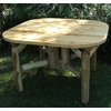 Rustic White Cedar Log 4 Ft Dining Table - Available to Ship June 28