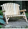 Rustic White Cedar Log 4 Ft Loveseat Bench