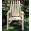 Rustic White Cedar Log Dining Chair