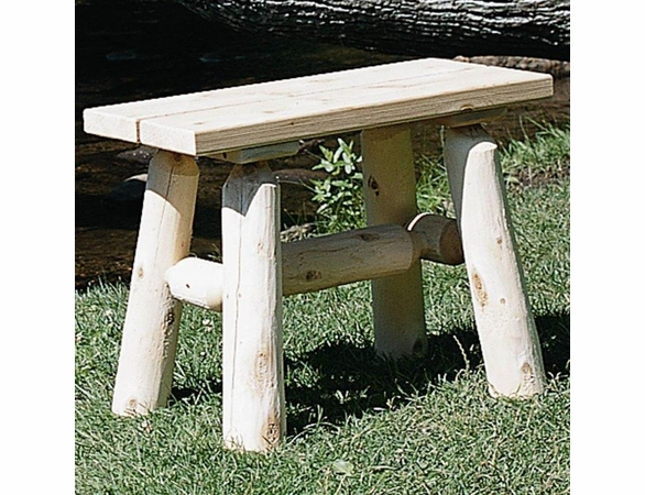 Rustic White Cedar Log Dining Set w/ Benches - Available to Ship Aug 30