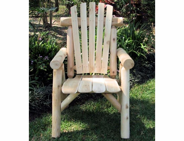 Rustic White Cedar Log Dining Set w/ Chairs - Available to Ship June 28